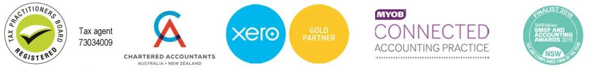 xero gold partner, MYOB connected practice, Registered tax agent, chartered accountant, 2018 SMSF and accounting awards finalist