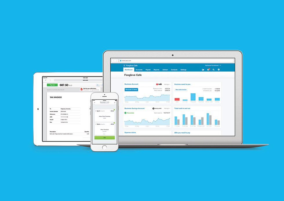 Xero Accounting Software on Mobile and Laptop